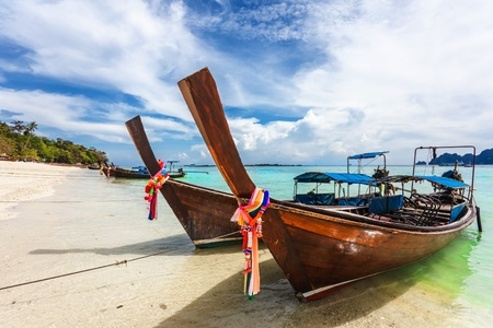 Boats in the tropical sea under blue sky  Thailand  Stock Photo - 16584728