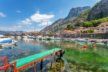 A small bay with boats  Kotor  Montenegro Stock Photo - 16722138