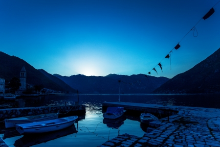 night on the stones beach   Montenegro  Stock Photo - 16722137