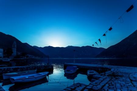 night on the stones beach   Montenegro  Stock Photo - 16722137