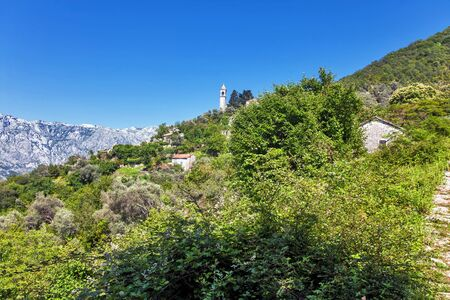 view on old ortodox church at moutains, Montenegro Stock Photo - 16729348
