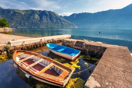 A small bay with boats  Kotor  Montenegro Stock Photo - 16729282