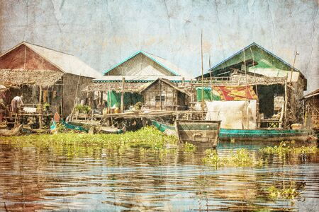 The village on the water  Tonle sap lake  Cambodia Stock Photo - 16942768