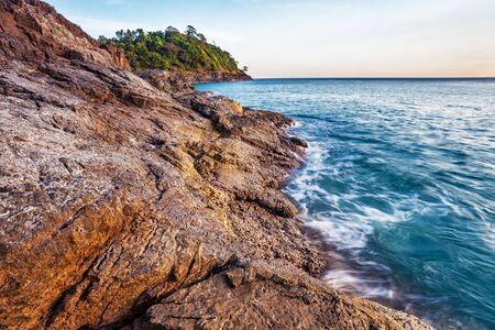 Tropical beach at beautiful sunset  Nature background Stock Photo - 16942766