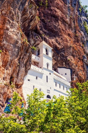 view on Ostrog ortodox monastery  Montenegro Stock Photo - 17003487