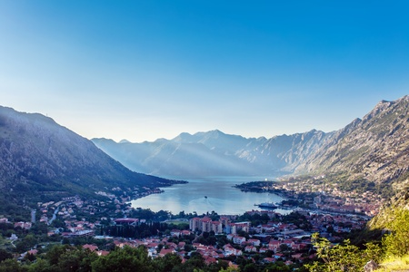 View of a small town by the sea  Montenegro Stock Photo - 17013502