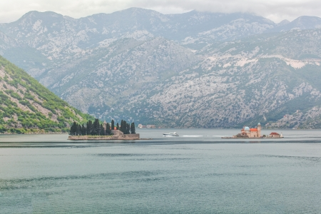 sea and mountains in bad rainy weather  Montenegro Stock Photo - 17013510