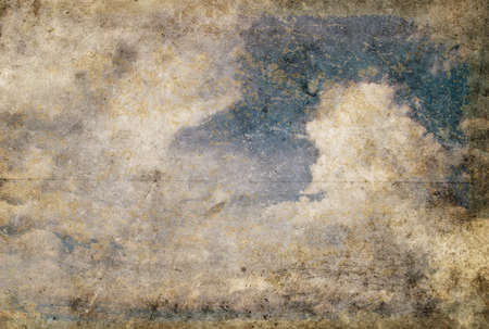 grunge image of blue sky with clouds Stock Photo - 17013508