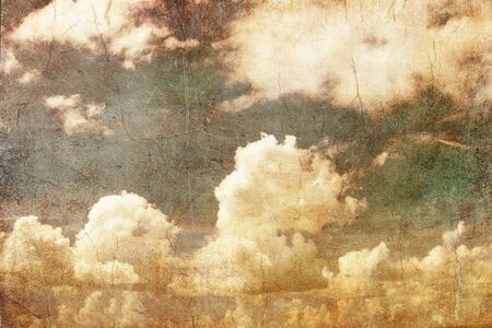 grunge image of blue sky with clouds Stock Photo - 17013505