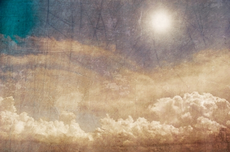 grunge image of blue sky with clouds Stock Photo - 17013503