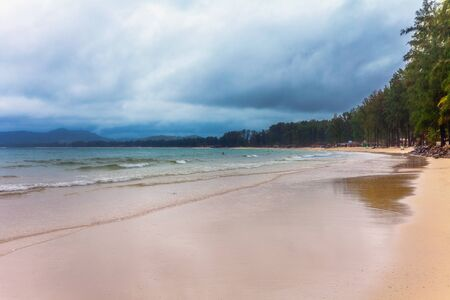 tropical beach under gloomy sky. Thailand Stock Photo - 17124133