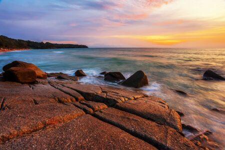 Tropical beach at beautiful sunset  Nature background Stock Photo - 17124147