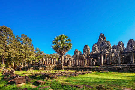 Ancient buddhist khmer temple in Angkor Wat complex, Cambodia Stock Photo - 17195879