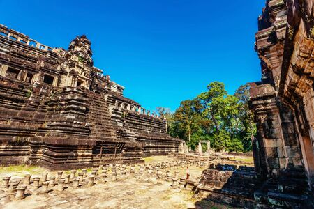 Ancient buddhist khmer temple in Angkor Wat complex, Cambodia Stock Photo - 17195880
