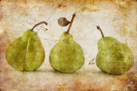 Fresh pears close-up in grunge and retro style Stock Photo - 17703198