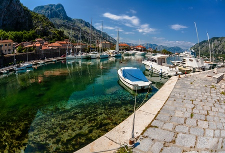 A small bay with boats  Kotor  Montenegro Stock Photo - 18152128