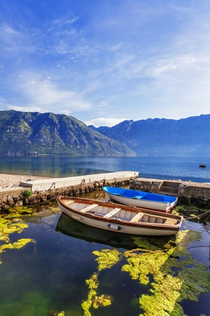 A small bay with boats  Kotor  Montenegro Stock Photo - 18152124