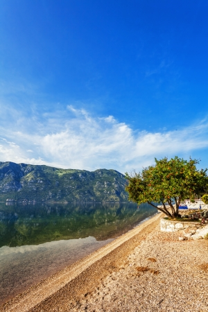 beach with sea and mountain views   Montenegro Stock Photo - 18152221