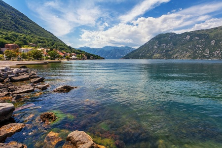 beach with sea and mountain views   Montenegro Stock Photo - 18152188