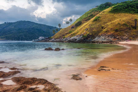 tropical beach under gloomy sky. Thailand Stock Photo - 18456269