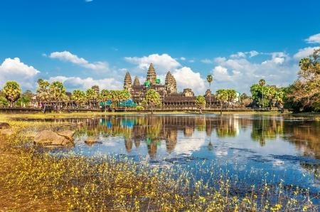 Angkor Wat Temple, Siem reap, Cambodia.  版權商用圖片