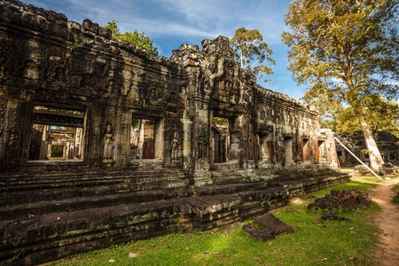 Ancient buddhist khmer temple in Angkor Wat complex, Cambodia Stock Photo - 18939147