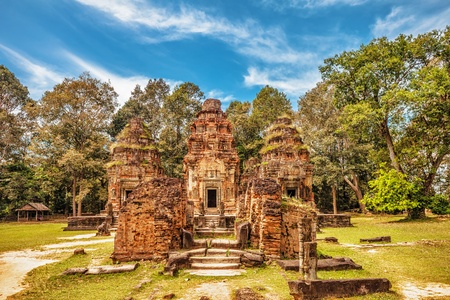 Ancient buddhist khmer temple in Angkor Wat complex, Cambodia Stock Photo - 18939152
