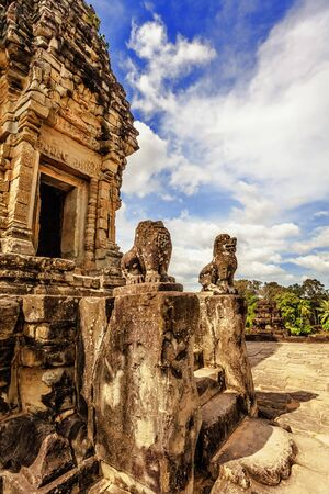 Ancient buddhist khmer temple in Angkor Wat complex, Cambodia Stock Photo - 18910828