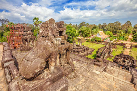 Ancient buddhist khmer temple in Angkor Wat complex, Cambodia Stock Photo - 18910856