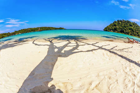 Beautiful tropical beach with  sea view, clean water & blue sky. Nature background Stock Photo - 18910701