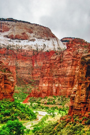Beautiful slopes of Zion canyon  Utah  USA   Stock Photo - 18918135
