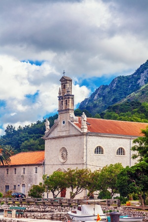 view on old ortodox church at moutains, Montenegro Stock Photo - 19324111