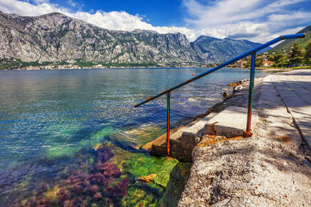 seafront with sea and mountain views   Montenegro photo