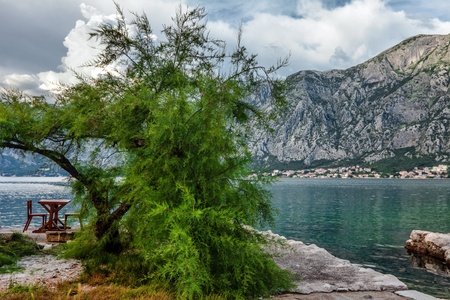 seafront with sea and mountain views.  Montenegro photo