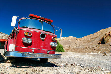 death valley: Old fire truck in Death Valley  California  USA