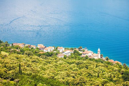 View of a small town by the sea  Montenegro photo