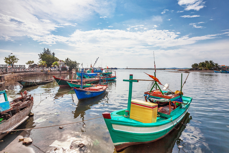 Fishing boats in port at Phu Quoc island  Vietnam photo