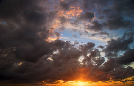 dramatics: Dramatics sunset sky with clouds for background
