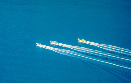 Race speed boats in the sea photo