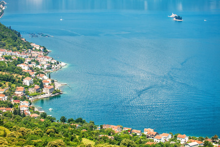 View of a small town by the sea. Montenegro photo