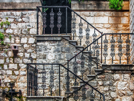 Stairs in the old town. Kotor. Montenegro photo