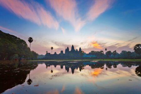 siem: Angkor Wat sunrise at Siem Reap. Cambodia