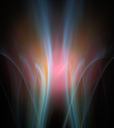 black light: Digital abstract fractal background
