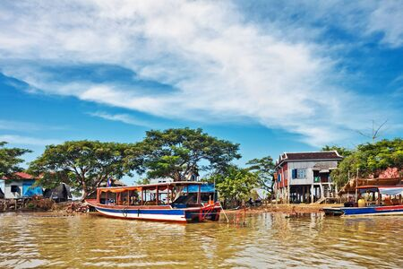 sap: The village on the water. Tonle sap lake. Cambodia Stock Photo