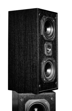 two party system: The black hi-fi sound speakers