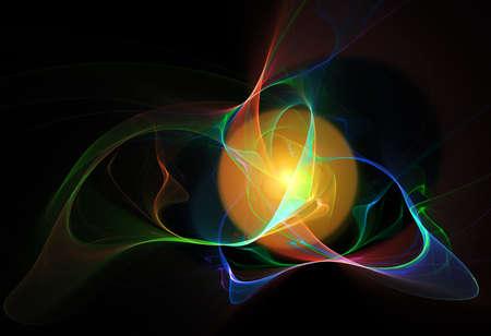 digital background: Digital abstract fractal background Stock Photo
