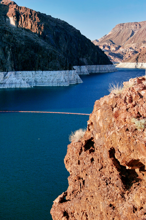 hoover: Lake Mead near Hoover Dam. United States Stock Photo