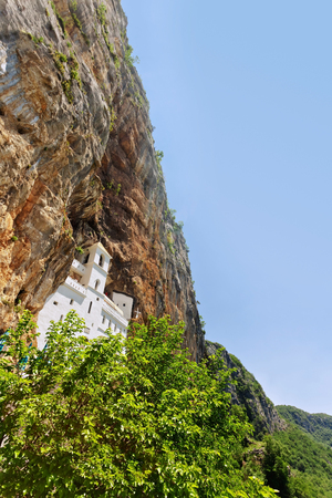 ortodox: view on Ostrog ortodox monastery. Montenegro