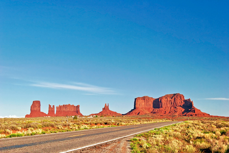 Road to Monument Valley. Arizona state. USA
