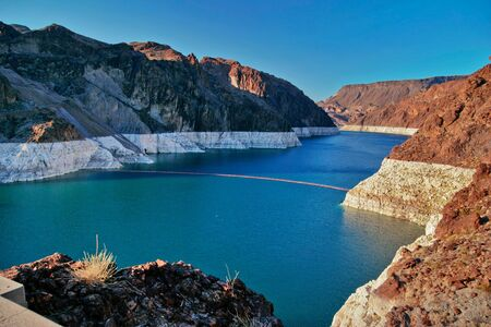 hoover dam: Lake Mead near Hoover Dam. United States Stock Photo